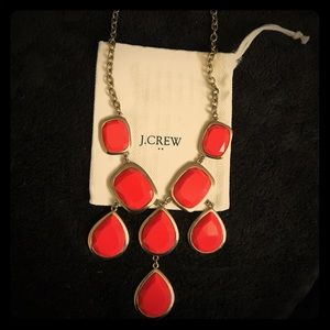 J. Crew statement necklace in coral